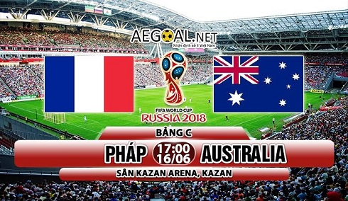 France Pháp và Australia World Cup 2018 HappyLuke